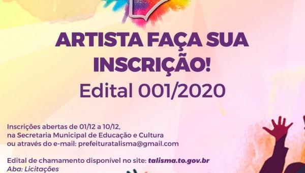 EDITAL CHAMAMENTO PÚBLICO 001/2020 - LEI ALDIR BLANC